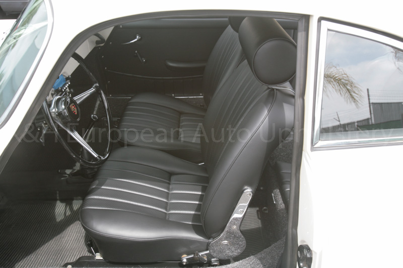 gallery porsche 356 coupe black interior k h european auto upholstery. Black Bedroom Furniture Sets. Home Design Ideas