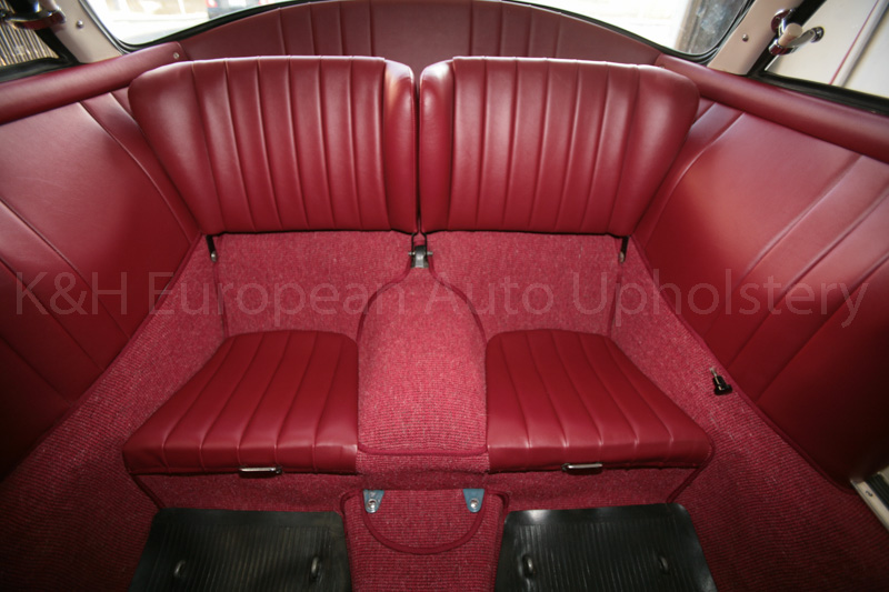 gallery porsche 356 coupe karmann red interior k h european auto upholstery. Black Bedroom Furniture Sets. Home Design Ideas