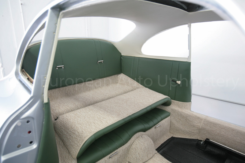gallery porsche 356a coupe green with oatmeal carpet interior k h european auto upholstery. Black Bedroom Furniture Sets. Home Design Ideas