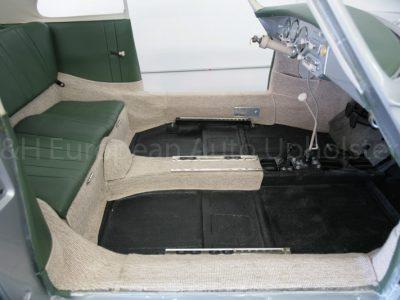 Porsche 356A Coupe Green and Oatmeal Carpet Interior-7