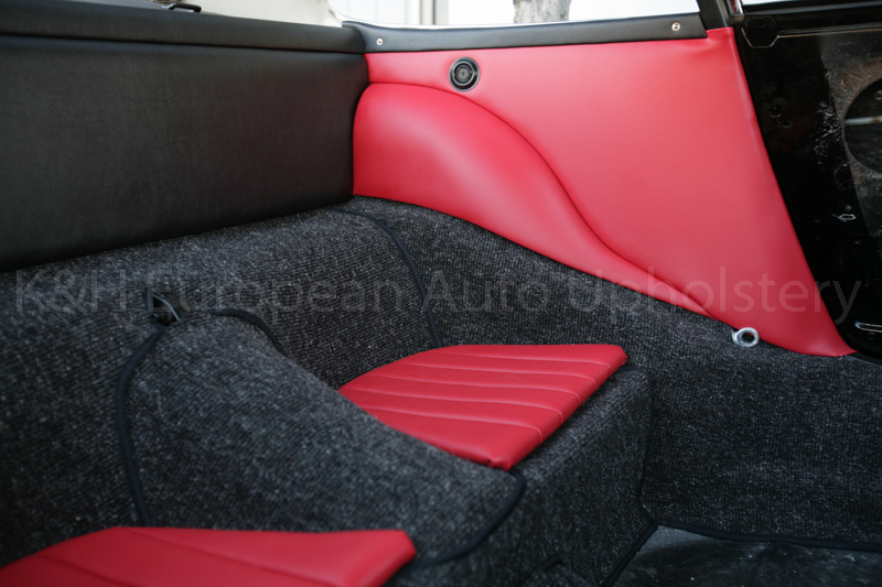 gallery porsche 911 912 red and black interior 1965 k h european auto upholstery. Black Bedroom Furniture Sets. Home Design Ideas