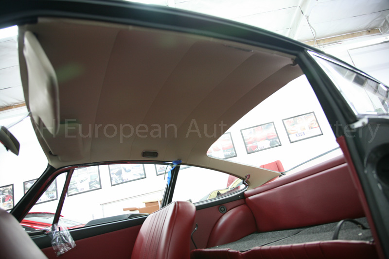 gallery porsche 912 red black interior 1966 k h european auto upholstery. Black Bedroom Furniture Sets. Home Design Ideas