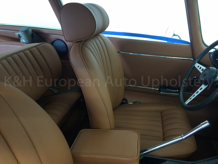 gallery jaguar e type siii 2 2 tan interior k h european auto upholstery. Black Bedroom Furniture Sets. Home Design Ideas