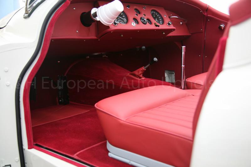Auto Carpet Replacement >> Gallery: Jaguar XK120 Red Interior – K&H European Auto Upholstery