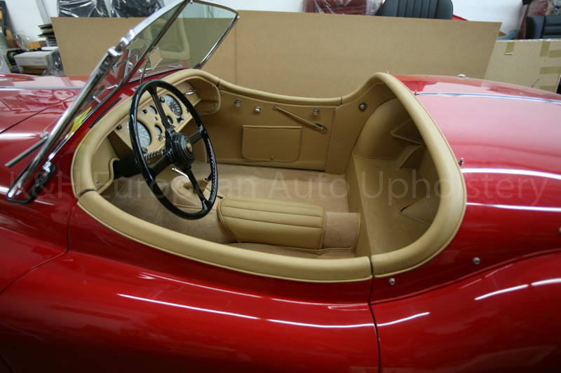 gallery jaguar xk140 rds biscuit interior k h european auto upholstery. Black Bedroom Furniture Sets. Home Design Ideas