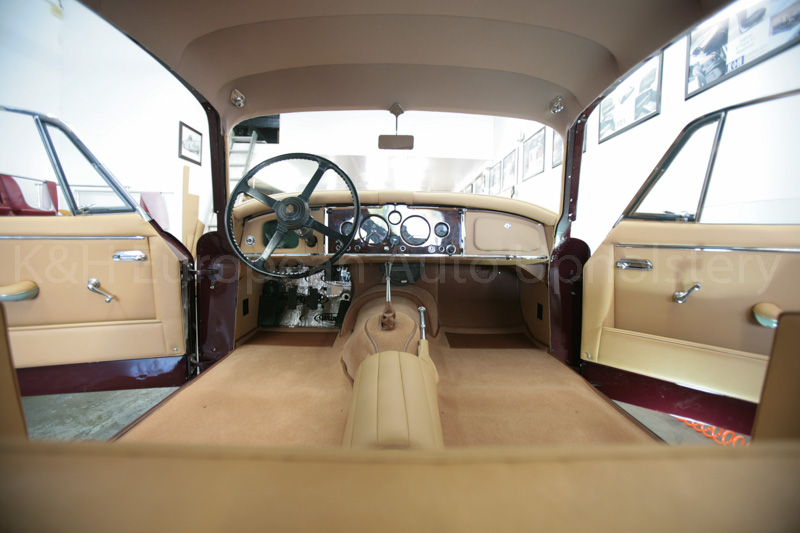 gallery jaguar xk150 fhc biscuit interior k h european auto upholstery. Black Bedroom Furniture Sets. Home Design Ideas