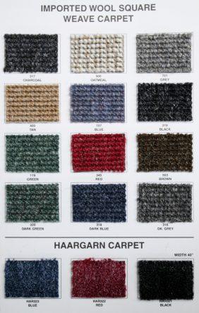materials carpet k h european auto upholstery. Black Bedroom Furniture Sets. Home Design Ideas