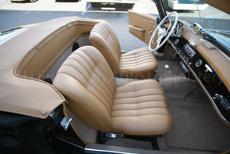 gallery mercedes 190sl tan interior k h european auto upholstery. Black Bedroom Furniture Sets. Home Design Ideas