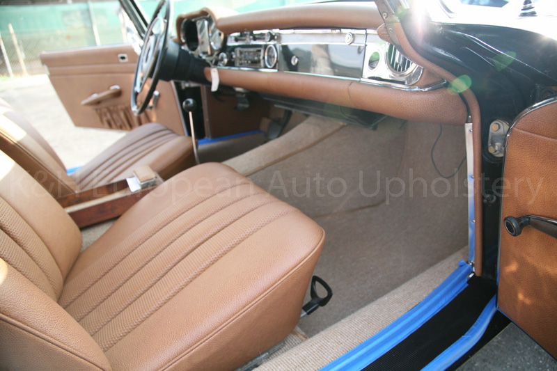 gallery mercedes 230sl cognac interior k h european auto upholstery. Black Bedroom Furniture Sets. Home Design Ideas