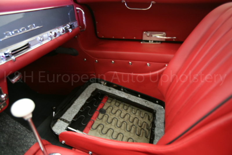 gallery mercedes 300sl gullwing red interior k h european auto upholstery. Black Bedroom Furniture Sets. Home Design Ideas