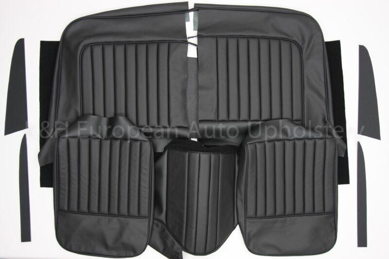 Jag XK140 FHC Front Seat Cover Black-1