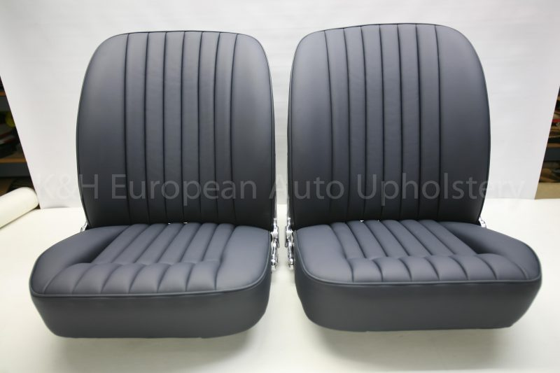 Jaguar E-Type S1 Front Seat Covers Vinyl Backing