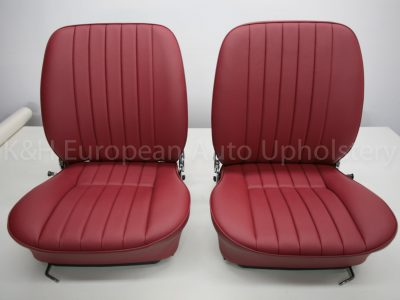 Porsche 356 Front Seat Cover Red-21