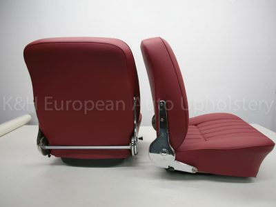 Porsche 356 Front Seat Cover Red-22