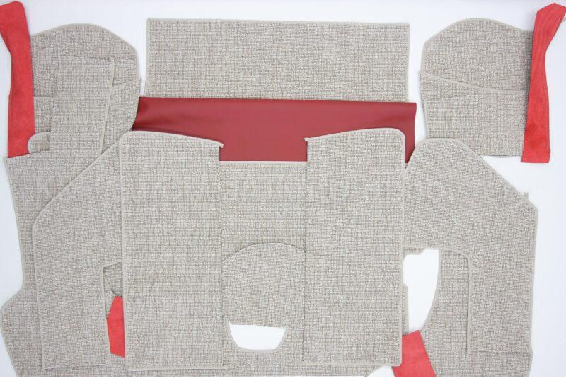 Porsche 356A Coupe Carpet Oatmeal-13