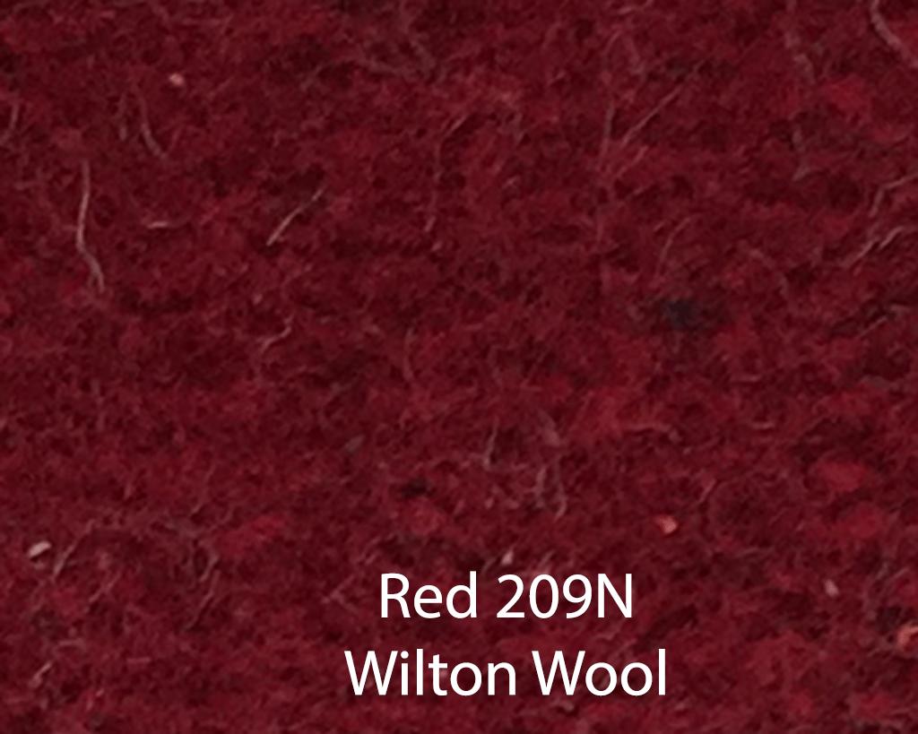 Red Wilton Wool 209N
